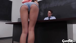 Exclusive classroom porn with the horny teacher