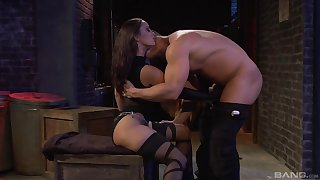 Standing doggy after amazing blowjob is Liza Del Sierra's wish
