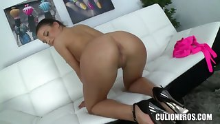 Tempting teen Anita B. teases and fingers her muff