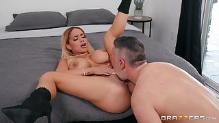 Latina almost thick ass, seductive bedroom sex and orgasm