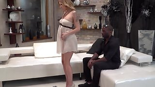 Black dude with a large Hawkshaw fucks tight ass of adorable Angel Piaff